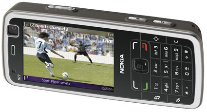 Nokia N77 TV playing mobile