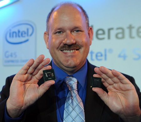 Intel's Eric Mentzer, general manager of the chipset and graphic development group